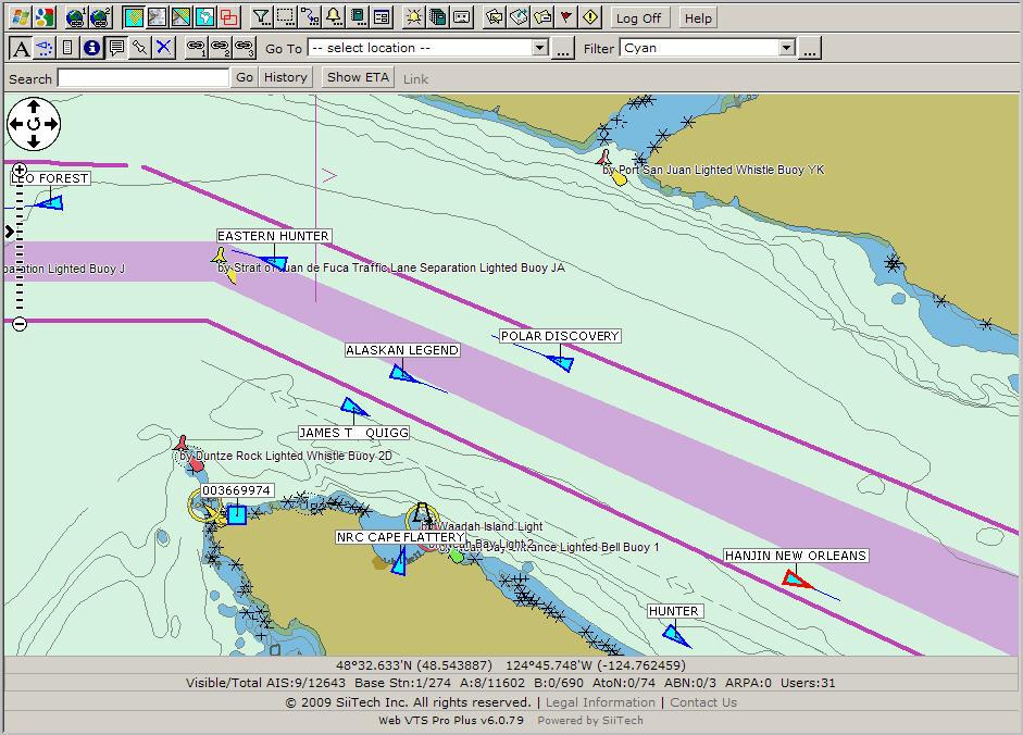 Click The Raster Navigational Charts On